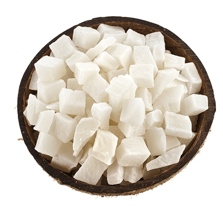Noix de coco en morceaux